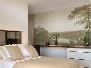 Papier peint trompe l oeil chambre affordable papier for Chambre bébé design avec parfum oriental fleuri