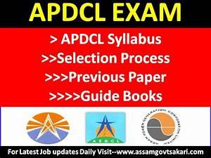 Apdcl Examination Syllabus Selection Process Question