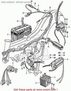 Honda Ca160 Touring 1966 Usa Wire Harness