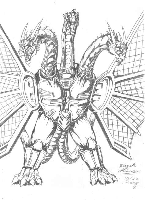 The only ones who can stop him are baragon, mothra, and strangely enough, king ghidorah. Mecha-King Ghidorah sketch by AlmightyRayzilla on DeviantArt