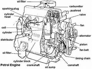 Labeled Diagram Of Car Engine Terminology More In      Mechanical
