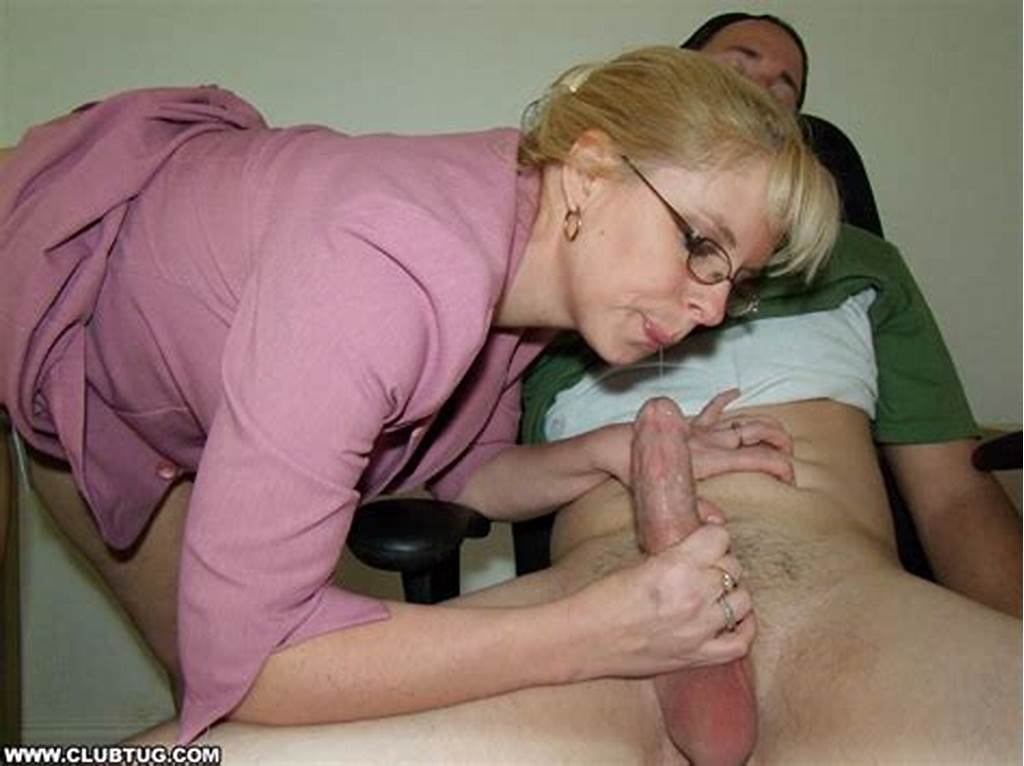 #Smoking #Mature #Blonde #In #Glasses #Gets #A #Cumshot #On #Her #Big