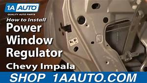 How To Install Repair Replace Power Window Regulator Chevy