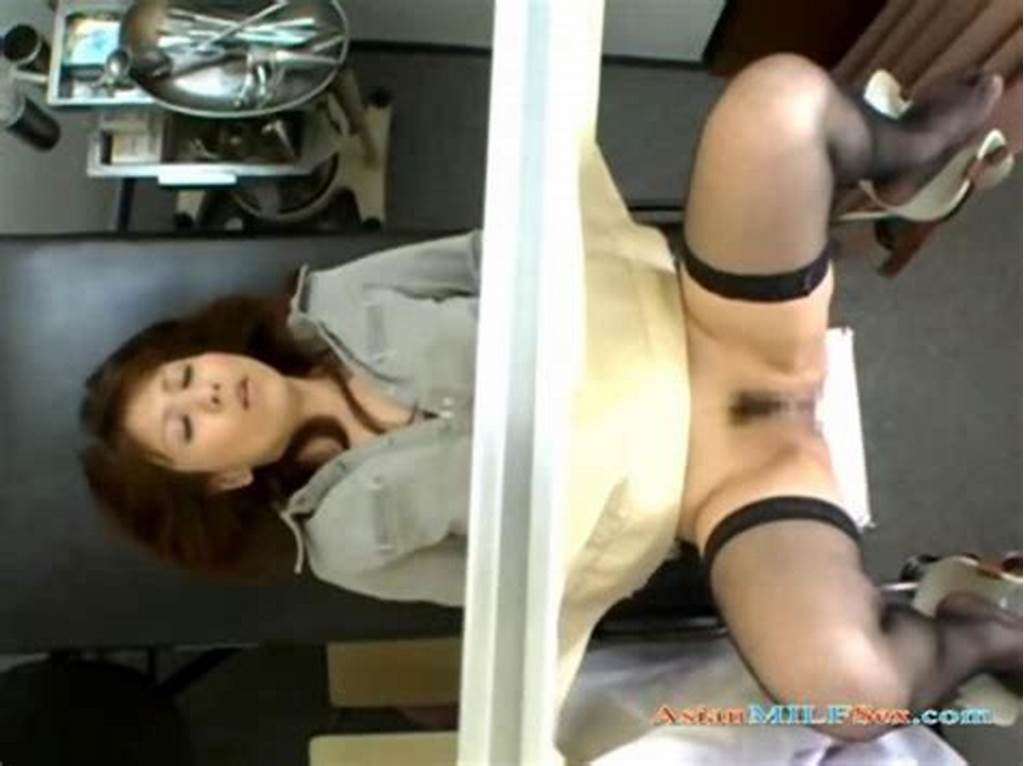 #Asian #Milf #Fucked #By #2 #Gynecologist #And #Creampied #On