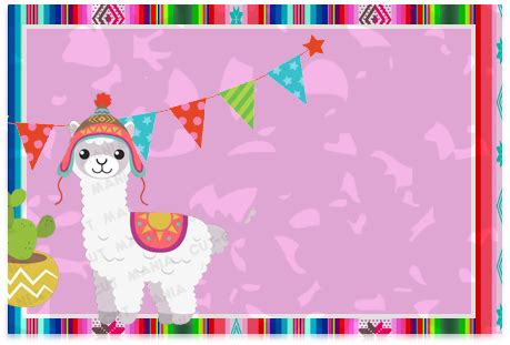 foto de Kit imprimible candy bar Llamas para cumpleaños Candy