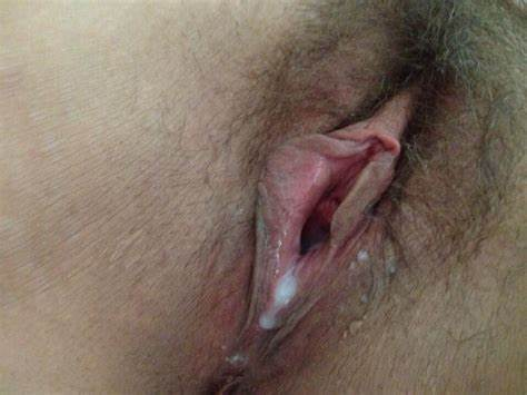 Home Cunt Cream Pie Fuzzy Cunt Penetrated And Cums