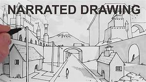 How To Draw A Background Scene In Perspective  Narrated