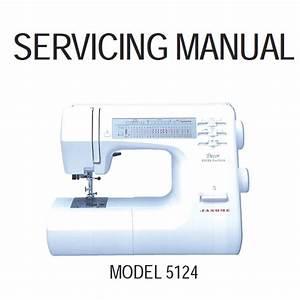 Service Manual  Janome Decor Excel Pro 5124   Sewing Parts Online