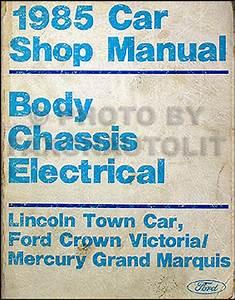 1985 Ford Crown Victoria  U0026 Mercury Grand Marquis Foldout