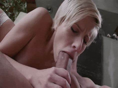 Bouncing This Deepthroat On His Giant Blue Haired Cock