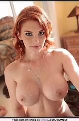 Redhead big tits cumshot
