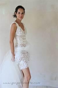 robe de mariee en dentelle de calais romantique courte et With de robe de mariée