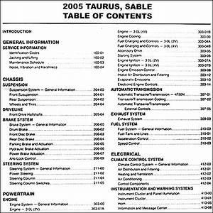 2005 Ford Taurus  U0026 Mercury Sable Repair Shop Manual Original