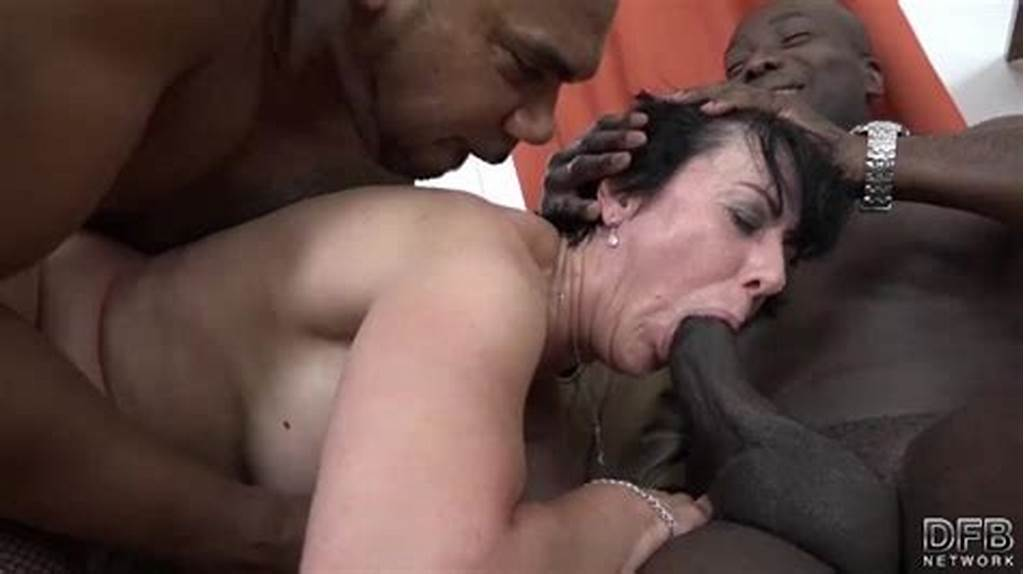 #Granny #Threesomes #With #2 #Black #Men #Shoving #Cocks #In #Her