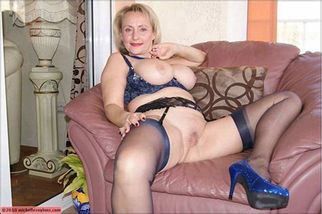 #Mature #Blonde #With #Massive #Boobs #Spreading #Her #Legs #To