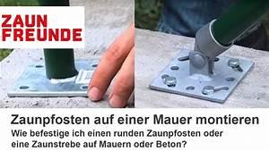 Sichtschutz Befestigung Auf Mauer : befestigung von zaunpfosten auf einer mauer oder auf beton ~ Watch28wear.com Haus und Dekorationen