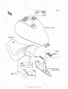 Kawasaki Motorcycle 2009 Oem Parts Diagram For Labels