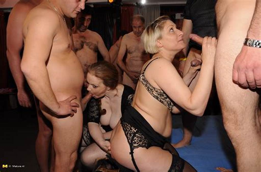 #Two #Horny #German #Housewives #Are #The #Centre #Of #A #Gang #Bang