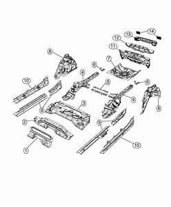 Fiat 500x Reinforcement  Rear Floor Pan  Export