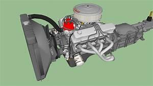 Ford 302 Cu  In  V8 Engine And Transmission