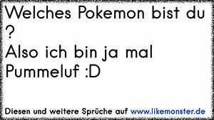 Was Für Ein Pokemon Bist Du : welches pokemon bist du also ich bin ja mal pummeluf d tolle spr che und zitate auf www ~ Orissabook.com Haus und Dekorationen