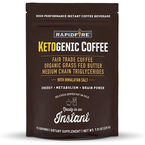 Each ingredient has been carefully selected and with you in mind. 4 Pack Rapid Fire Ketogenic Coffee Instant 7.93 Ounce - Walmart.com - Walmart.com
