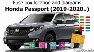 Fuse Box Location And Diagrams  Honda Passport  2019-2020