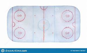 Frosty Ice Hockey Rink Watercolour With Lines  Marks