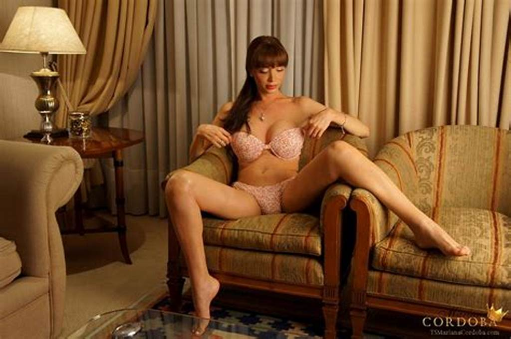#Mariana #Cordoba #Strokes #Her #Huge #Cock #In #The #Chair