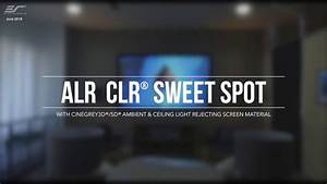 Elite Screens Ceiling And Ambient Light Rejecting  Clr  Alr