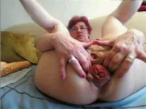 Granny Plays With Her Very Loose Asshole