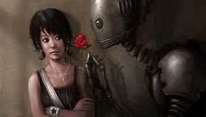 Robots, Digital, Art, Red, Rose, Girl, Star, Wallpapers, Hd, Desktop, And, Mobile, Backgrounds