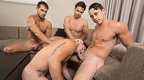 Threesome Hunks Banged After Work Official Str8 Wifes Part 4, Action 1