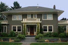 Exterior Window Color Schemes by Exterior House Paint Schemes With Dark Green Wall And Cream Windows Frame H
