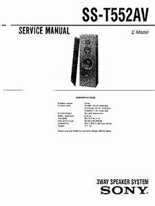 Sony Sen-r5520  Ss-t552av Service Manual