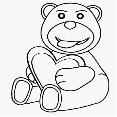 Coloring Valentines Heart Teenage Bear Teddy Drawing