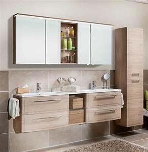 Doppelwaschbecken Mit Unterschrank Und Spiegelschrank : marlin joice badm bel set 170 cm mit led spiegelschrank ~ Watch28wear.com Haus und Dekorationen
