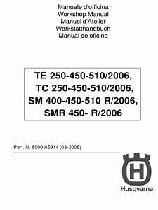 2008 Husqvarna Te 450 Service Manual