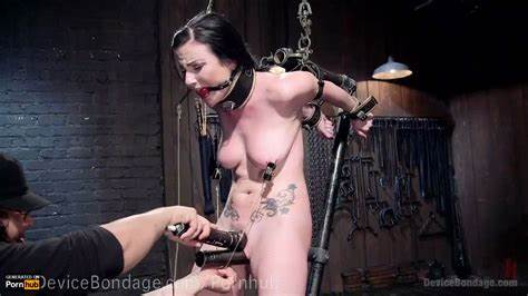 Bigtitted French Sub Fucked Brutal And Painful Bondage Gif