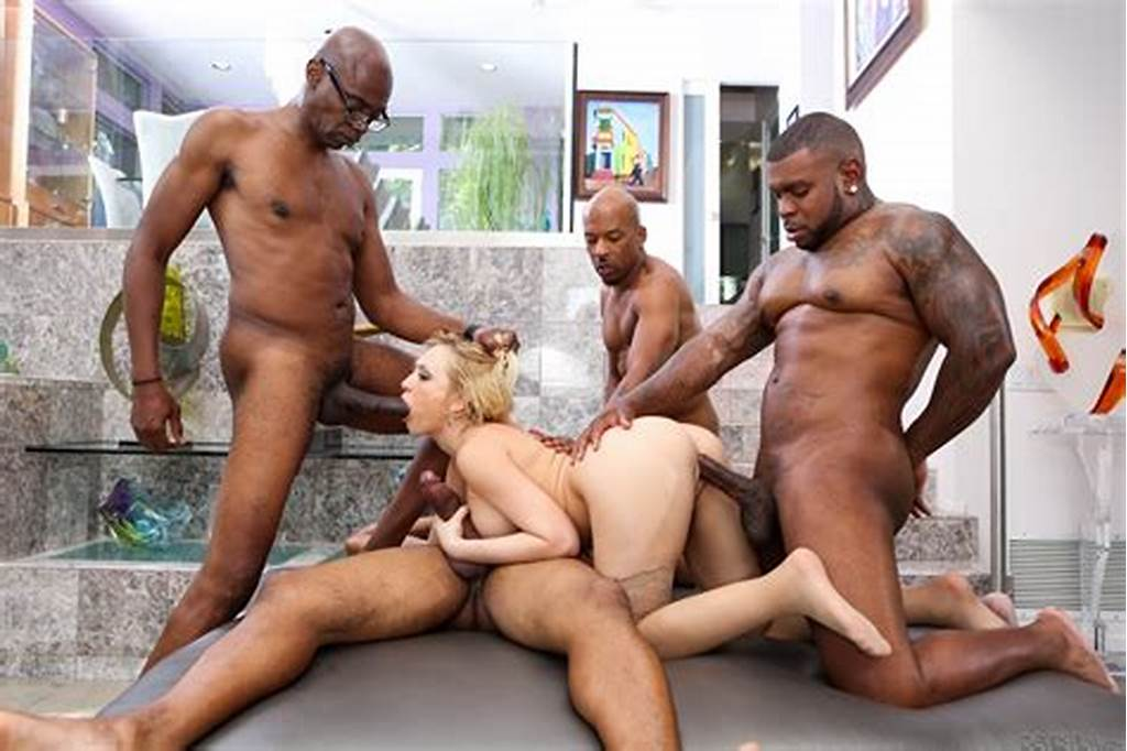 #Short #Haired #Blonde #Gang #Bang