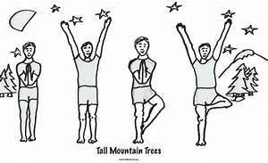 Tall Mountain Trees  For More Free Coloring Sheets And