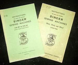 Vintage Singer Sewing Machine Instruction Manuals 1936  U0026 1937  Sewingindustry  Vintagesi