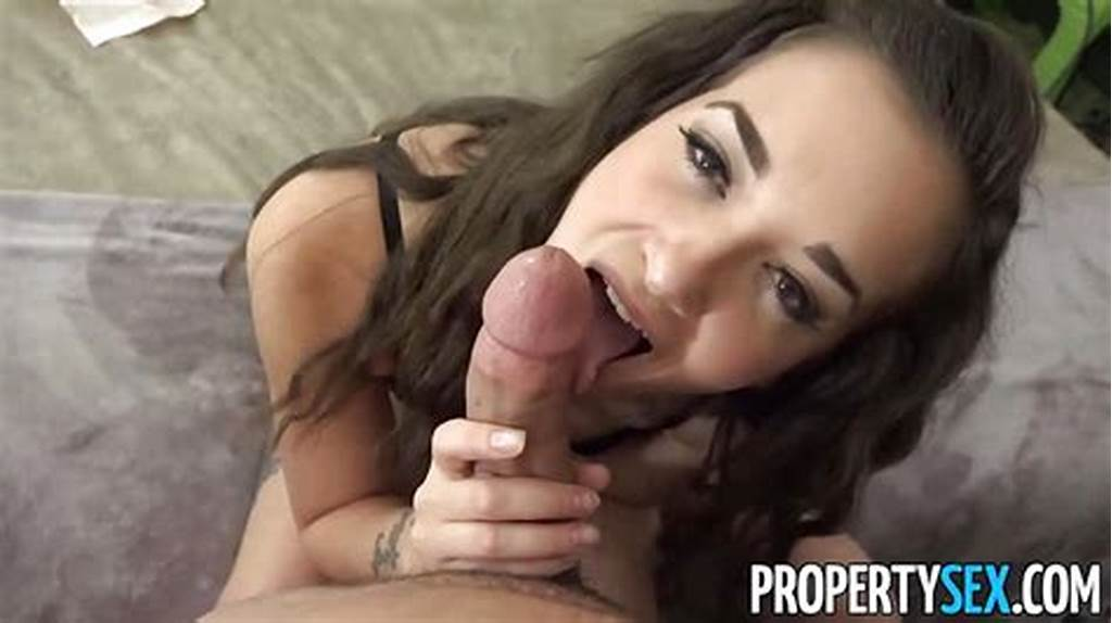 #Randy #Brunette #Stuffs #Her #Mouth #With #Hard #Cock