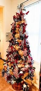 513, Christmas, Dollar, General, Christmas, Tree, Makeover, U2013, Lizzy, U0026, Erin, Ribbononchristmastreeideas
