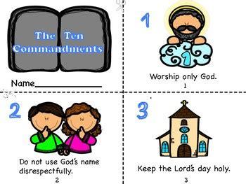 No idols, worship only god. The Ten Commandments Mini Book by Miss P's PreK Pups | TpT