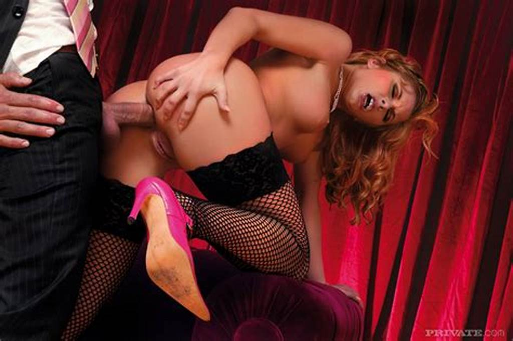 #Dazzling #Curly #Beauty #In #Black #Fishnet #Stockings #Fucked #By