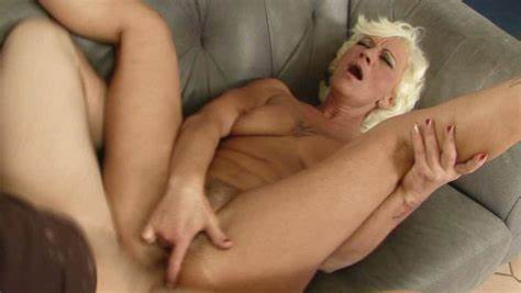 Grey Haired Mature Adelle Drill Asshole Fuck