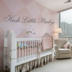 hush little baby wall sticker decals With baby wall decals