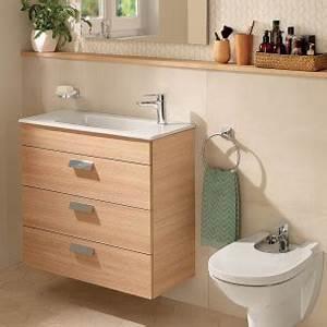 Meuble Salle De Bain Roca : petit meuble de salle de bains de 60 90 cm espace aubade ~ Dallasstarsshop.com Idées de Décoration