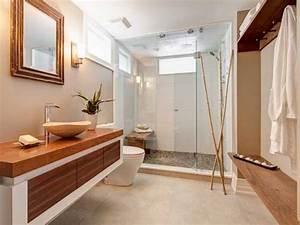 20 salles de bain zen qui donnent des idees deco deco cool With salle de bain galet et bois